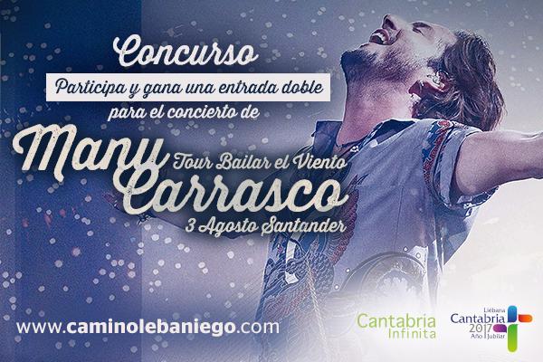 Gana dos entradas dobles para Manu Carrasco
