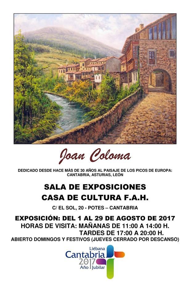 Turismo Cantabria - Turismo Cultural - Año Jubilar Lebaniego -Exposición- Liébana- Potes- Artista - Joan Coloma- Liébana- Potes- Picos de Europa- Cantabria- Pinturas- Cuadro