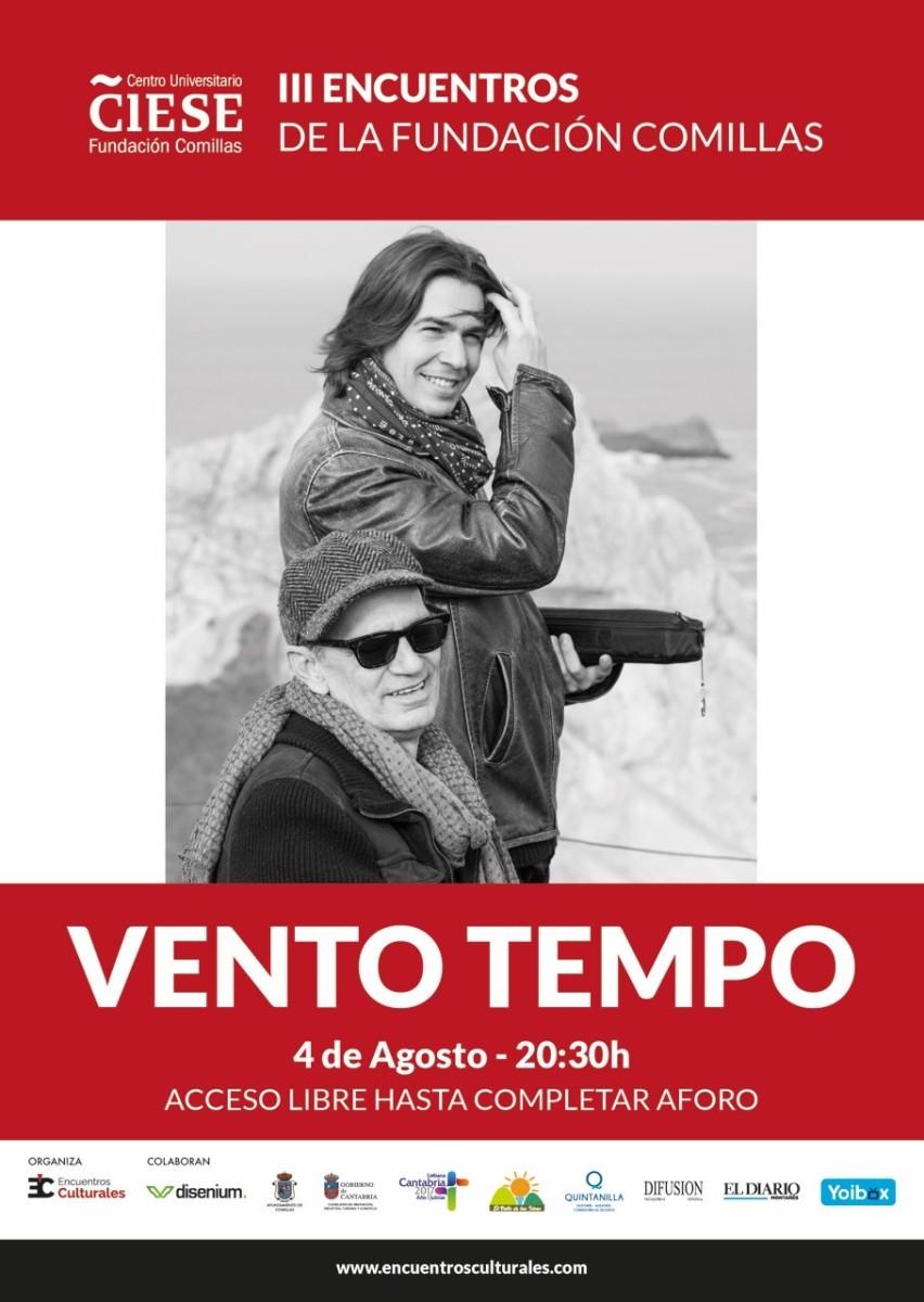 Cantabria Turismo- Año Jubilar Lebaniego - concierto- Comillas- Encuentros culturales- Fundación Comillas- Vento Tempo- folk celta- Cantabría