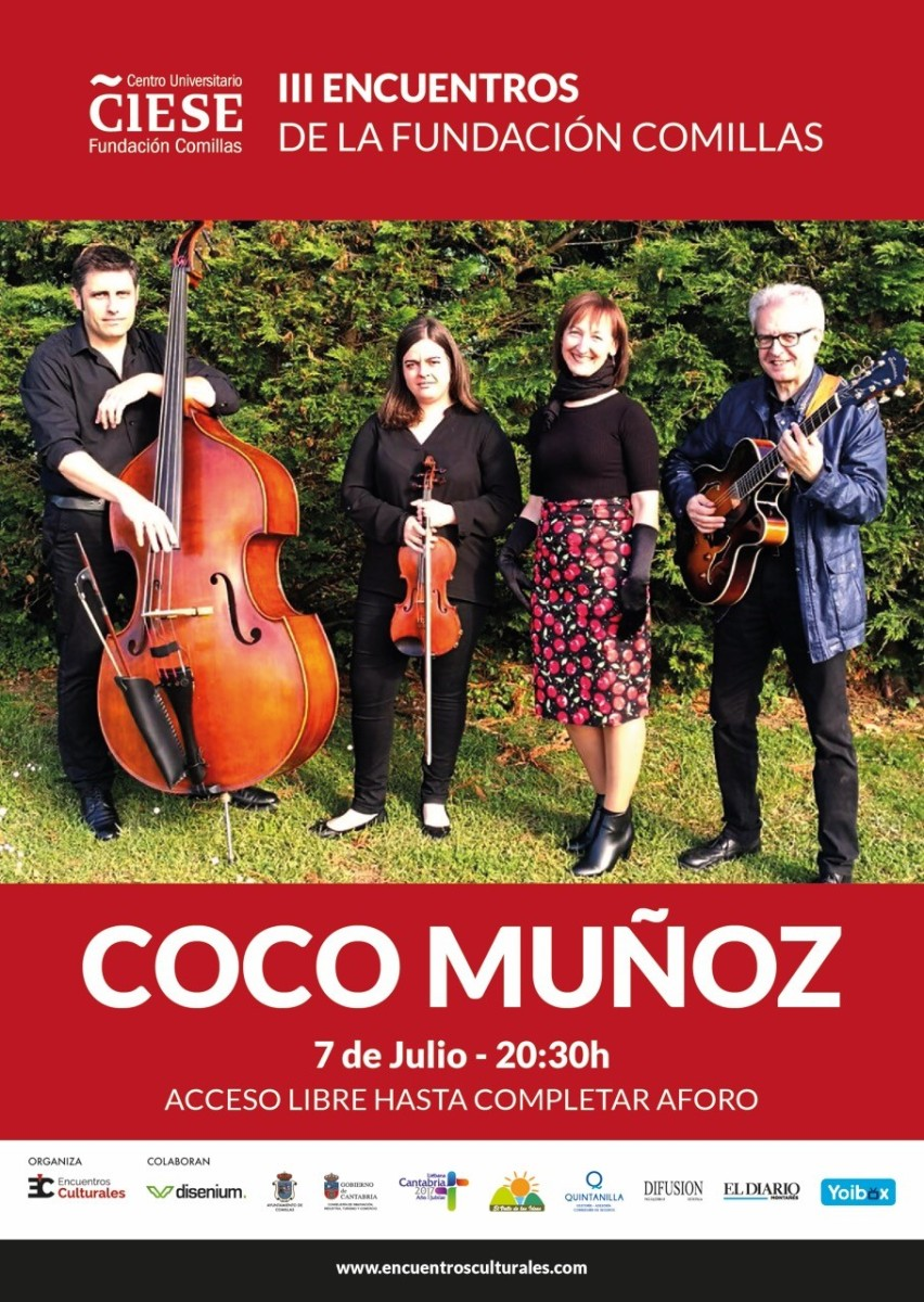 Turismo Cantabria - Turismo Cultural - Año Jubilar Lebaniego - Concierto - Comillas - Coco Muñoz-Swing- verano