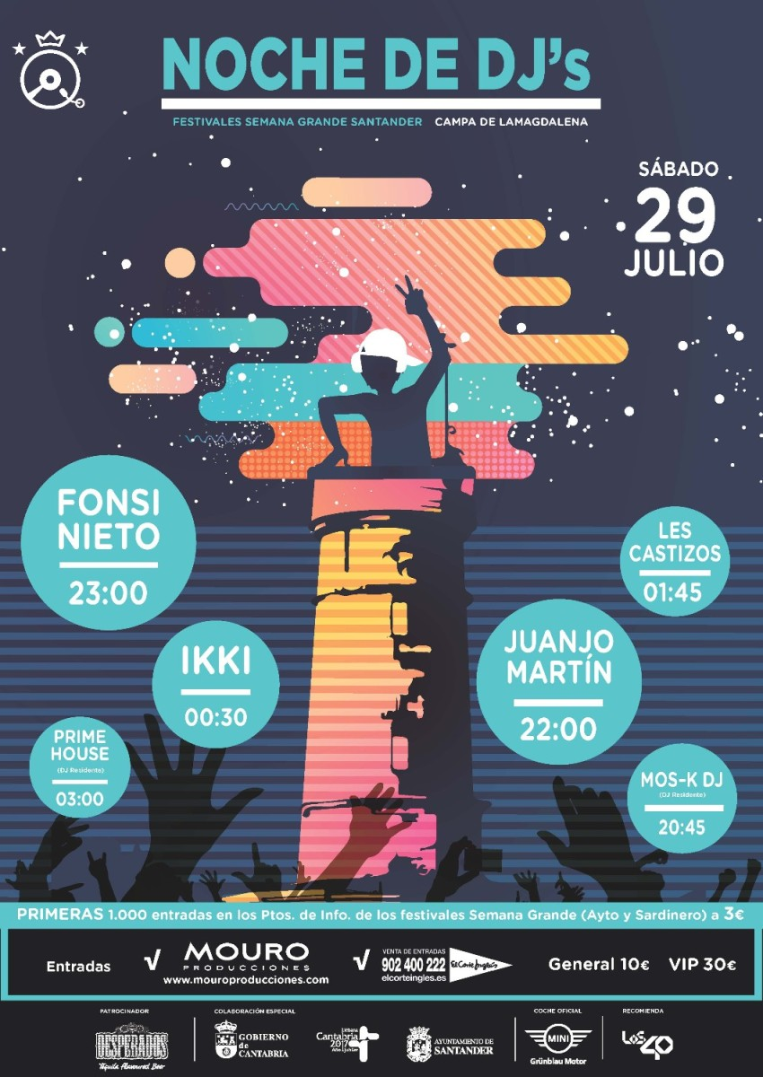 Turismo Cantabria - Turismo Cultural - Año Jubilar Lebaniego - Concierto - Ikki- fonsi nieto- djs- fiestas- santander-Les Castizos